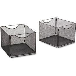 Safco Onyx Mesh Cube Bin - Storage and Organization