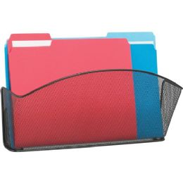 Safco Onyx Mesh Legal Size Wall Pocket - Office Supplies