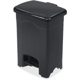 Safco Plastic Step-on Receptacle - Janitorial Supplies