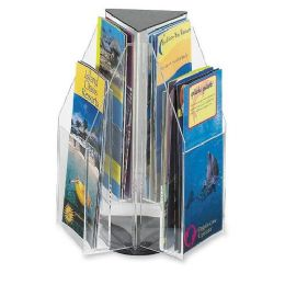 Safco Reveal Pamphlet Triangle Tabletop Display - Office Supplies
