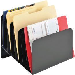 MMF Steelmaster Slanted Vertical File Organizer - File Folders & Wallets