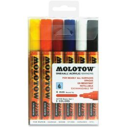 10 Units of MOLOTOW One4All 4mm Acrylic Markers Basic Set - Markers