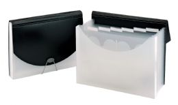 """4 Units of 7 Pocket + 1"""" Document Case, Black - Office Supplies"""