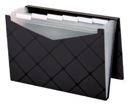 4 Units of 7 Pocket File, Letter Size, Black - File Folders & Wallets
