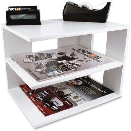 Victor Pure White Collection Wood Corner Shelf - Storage & Organization