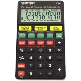 18 Units of Victor V14 Personal Financial Calculator - Office Calculators