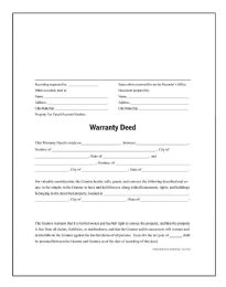 Warranty Deed, Forms And Instructions - Office Supplies