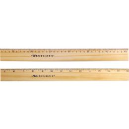 Westcott Double Metal Edge Ruler - Office Supplies