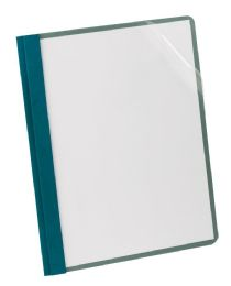5 Units of Earthwise By Oxford 100% Recycled Clear Front Report Covers, Letter Size, Blue - Report cover