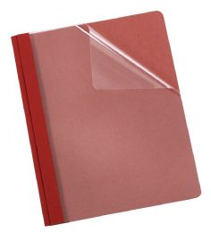 5 Units of Earthwise By Oxford 100% Recycled Clear Front Report Covers, Letter Size, Red - Report cover