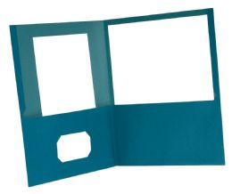 10 Units of Earthwise By Oxford 100% Recycled Twin Pocket Folders - Retail Pack, Letter Size, Blue - Folders & Portfolios