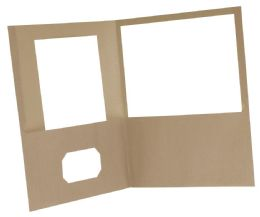 10 Units of Earthwise By Oxford 100% Recycled Twin Pocket Folders - Retail Pack, Letter Size, Natural - Folders & Portfolios