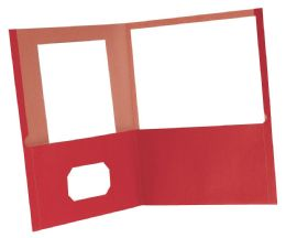 10 Units of Earthwise By Oxford 100% Recycled Twin Pocket Folders - Retail Pack, Letter Size, Red - Folders & Portfolios