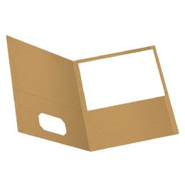 Earthwise By Oxford Twin Pocket Folders, Letter Size, Natural, 25 Per Box - Folders & Portfolios
