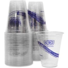 37 Units of Eco-Products BlueStripe Cold Drink Cups - Cups