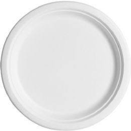 EcO-Products Sugarcane Fiber Plates - Office Supplies