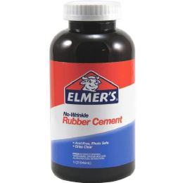84 Units of Elmer's NO-Wrinkle Rubber Cement - Office Supplies