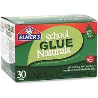48 Units of Elmer's School Glue Naturals 30 Pack 6g Glue Stick - Glue