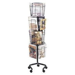 Safco Rotary Floor Display Rack - Office Supplies