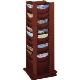 Safco Rotating Wood Display - Office Supplies