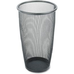Safco Round Mesh Wastebasket - Office Supplies