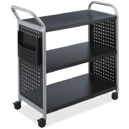 Safco Scoot 3 Shelf Utility Cart - Office Supplies