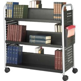 Safco Scoot Double Sided Book Cart - Office Supplies