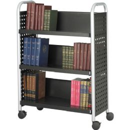 Safco Scoot Single Sided Book Cart - Office Supplies