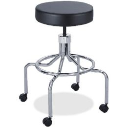 Safco Screw Lift Lab Stool With High Base - Office Supplies