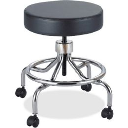 Safco Screw Lift Lab Stool with Low Base - Office Supplies