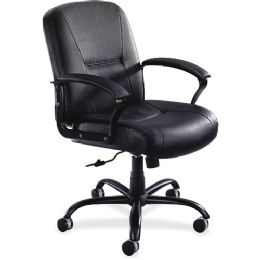 2 Units of Safco Serenity Big/tall Leather Midback Chair - Office Chairs