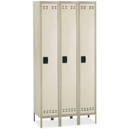 2 Units of Safco SinglE-Tier TwO-Tone 3 Column Locker With Legs - Office Supplies