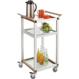 Safco Small Aluminum Frame Refreshment Cart - Frame
