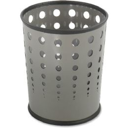 Safco Steel Bubble Wastebasket - Office Supplies