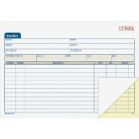 Adams Carbonless Invoice Book - Office Supplies
