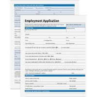 24 Units of Adams Employment Application Forms - Office Supplies