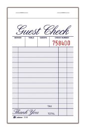 4 Units of Adams Guest Check Pad, 1-Part, 12/pk - Note Books & Writing Pads