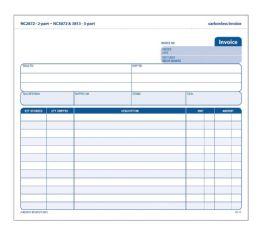 12 Units of Adams Invoice Unit Set, 2-Part, Carbonless, 50/pk - Office Supplies