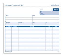 8 Units of Adams Invoice Unit Set, 3-Part, Carbonless, 50/pk - Office Supplies