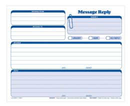8 Units of Adams Message Reply Unit Set, Carbonless, 50 Per Pack - Office Supplies