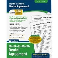 48 Units of Adams Monthly Rental Agreement Form Set - Office Supplies