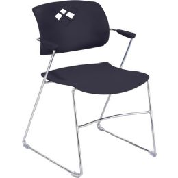 Safco Veer Flex Back Stack Chair With Arm - Office Chairs