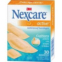 Nexcare™ Active™ Waterproof Bandages, 30 Ct. Assorted - Office Supplies