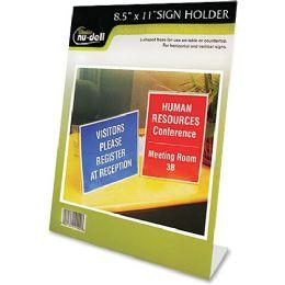 NU-Dell OnE-Piece Vertical Sign Holder - Sign