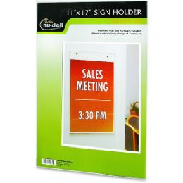 NU-Dell Vertical Wall Sign Holder - Sign