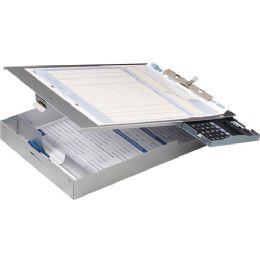 Oic Aluminum Storage Clipboard With Calculator - Calculators