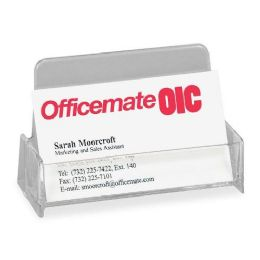 Oic Broad Base Business Card Holder - Business cards