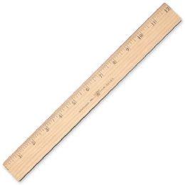 Westcott Wood Ruler With Metal Edge - Office Supplies