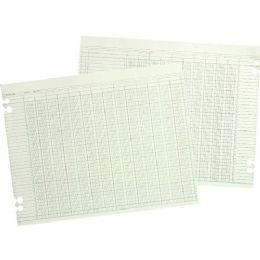 5 Units of Wilson Jones 12-Column Numbered Ledger Paper - Paper