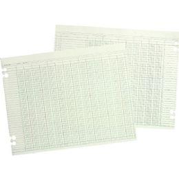 Wilson Jones 20-Column Prepunch Ledger Paper - Paper